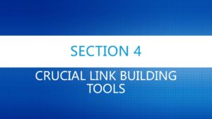 Crucial Link Building Tools